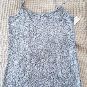 Embroidered Lace Scoop Neck Cami, LOFT Outlet